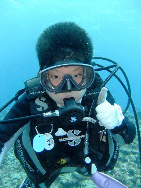 10歳から体験ダイビング