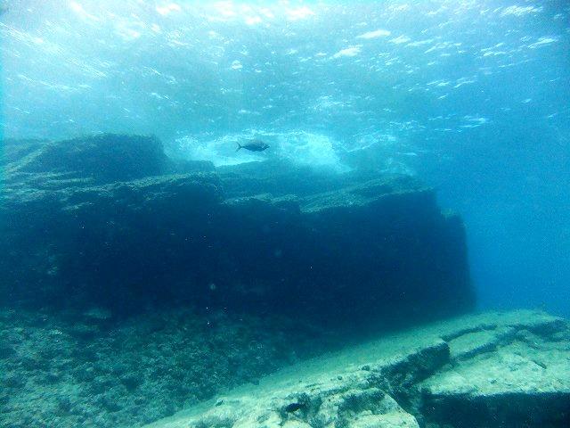 海底遺跡?
