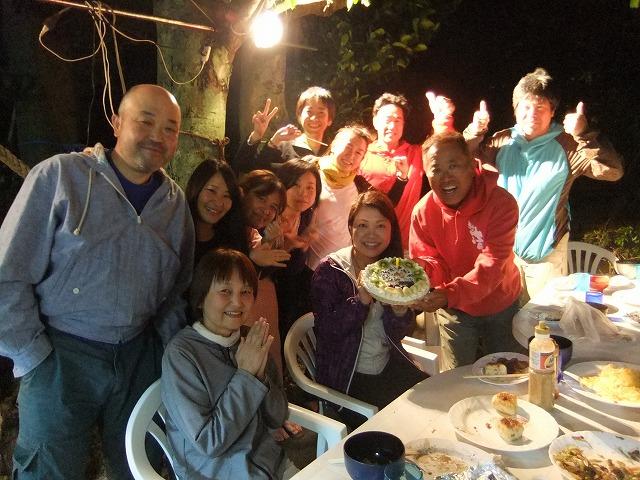 打ち上げBBQ&100本ケーキ
