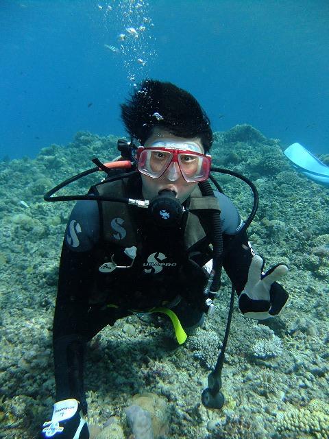 2日連続で体験ダイビング