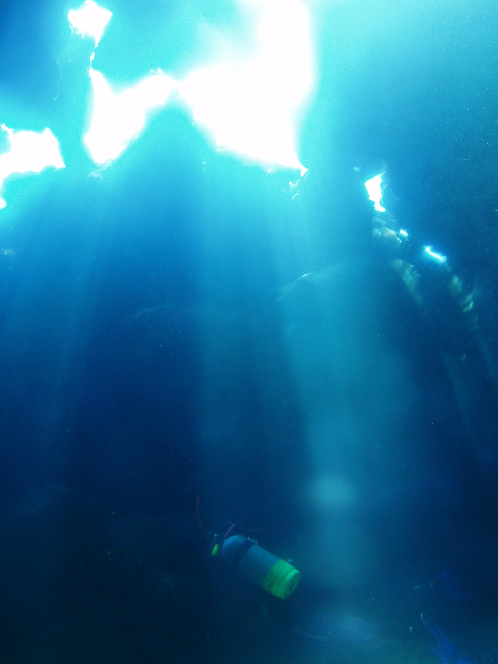 7月22日 ポイント2 ニタ洞窟 透明度30m