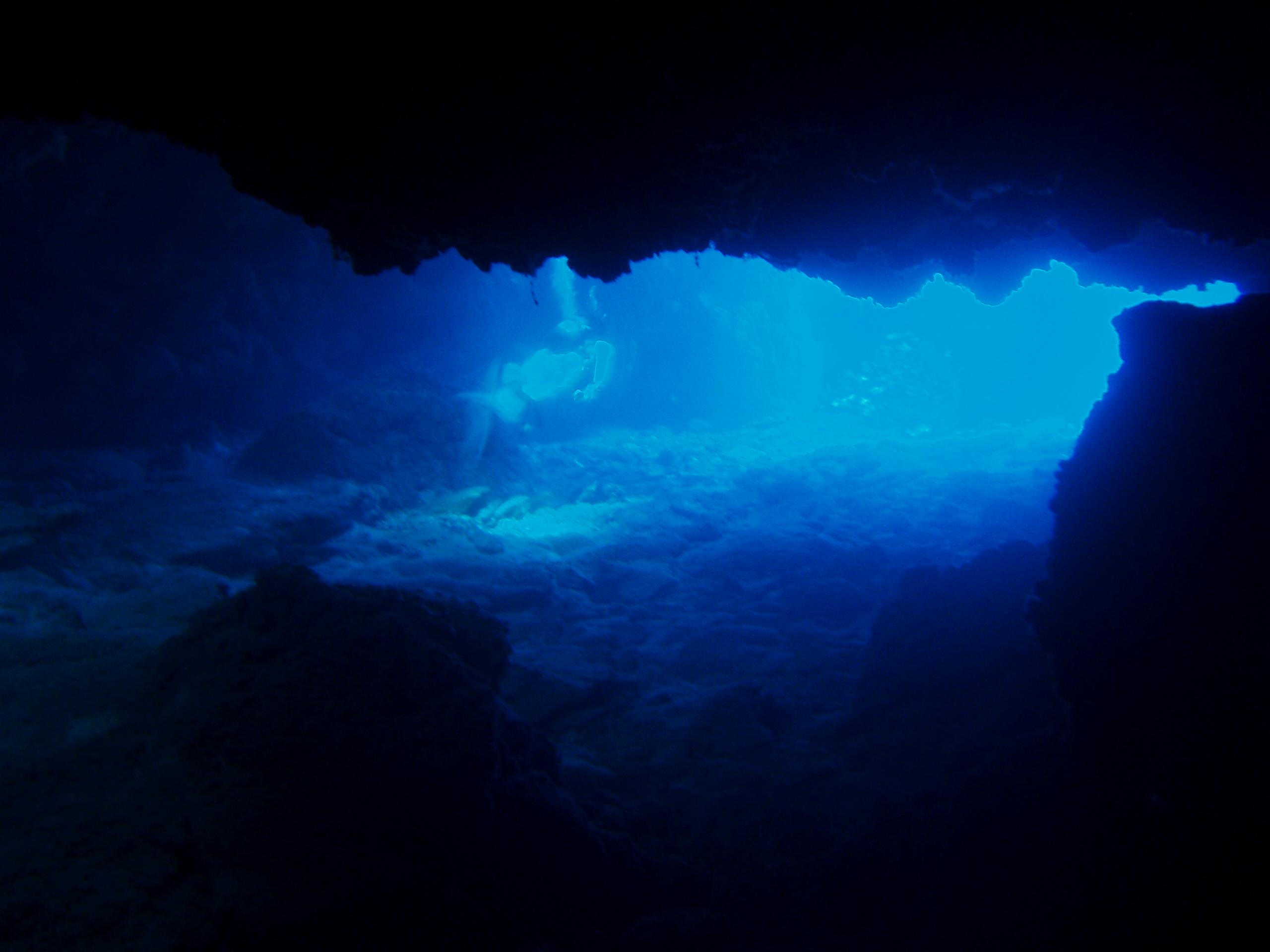 7月27日 ポイント1 ニタ洞窟 ポイント2 アダン下 水温29℃ 透明度30m